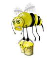 bee hard work vector image