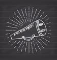 bullhorn or megaphone loudspeaker hand drawn vector image