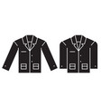 business jacket black concept icon vector image vector image
