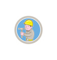 Carpenter Builder Hammer Circle Cartoon vector image vector image