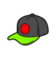 cartoon baseball cap vector image vector image