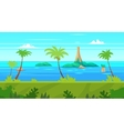 Cartoon nature seamless landscape with sea and vector image vector image