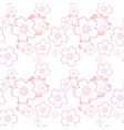 cherry blossom and background pink flower vector image