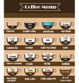Coffee icon set menu vector image vector image