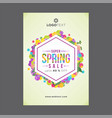 colorful hexagonal spring poster with soft green vector image