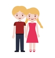 couple of blond kids togheter vector image