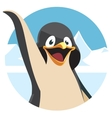 cute cartoon penguin portrait vector image vector image