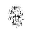 enjoy summer days - hand lettering inscription vector image vector image