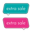 extra sale green and pink banner vector image