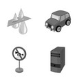 filter car and other monochrome icon in cartoon vector image vector image