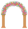 floral design arc vector image vector image