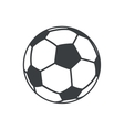 football soccer ball sport element icon vector image