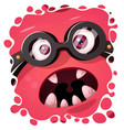 funny cute crazy monster character halloween vector image vector image