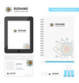 gear eye business logo tab app diary pvc employee vector image vector image