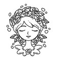 girl with flower in hair vector image