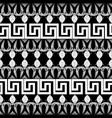 greek floral meanders seamless border pattern vector image vector image