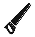 hand saw icon simple style vector image vector image