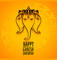 happy ganesh chaturthi mahotsav celebration vector image vector image