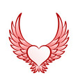 heart symbol with wings vector image