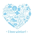 I love winter Merry Christmas Happy New Year vector image
