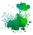 ink landscape vector image vector image