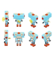 Isometric blue toy robot vector image vector image