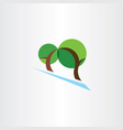 landscape logo trees park eco symbol vector image