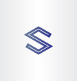 letter s geometrical icon vector image