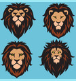 lion logo set collection design premium vector image vector image