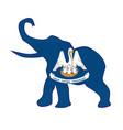 louisiana republican elephant flag vector image vector image