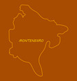 map and flag of montenegro vector image vector image