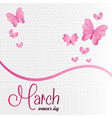 march womens day celebration vector image vector image