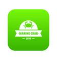 marine crab icon green vector image vector image