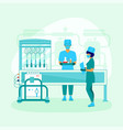 medical laboratory and scientists in a flat design vector image vector image