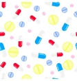 Medicine pills seamless pattern Pills vector image