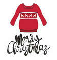 Merry christmas with a sweater for design