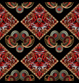 paisley seamless pattern with meander frames vector image