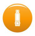plastic flash drive icon orange vector image vector image