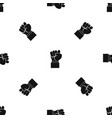 raised up clenched male fist pattern seamless vector image vector image