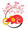 rat zodiac symbol chinese new year 2020 vector image