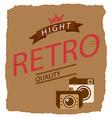 retro style vector image