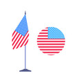 round emblem united states and usa flag vector image