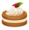 Sandwich cookie and cream vector image vector image