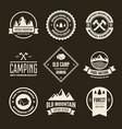 set mountain and outdoor adventures logo vector image vector image