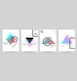 set of minimalist covers design with geometric vector image
