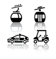 Set of transport icons - sport vector image