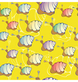 snail pattern vector image vector image