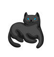 stylized cartoon black cat vector image vector image