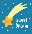 sweet dreams cute sleeping star vector image