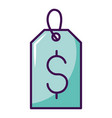 tag price dollar shopping isolated vector image